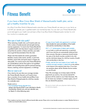 Blue Cross Fitness Benefit Form Fill Online Printable Fillable