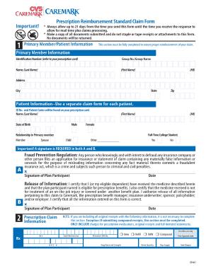 cvs prescription reimbursement fill online printable fillable