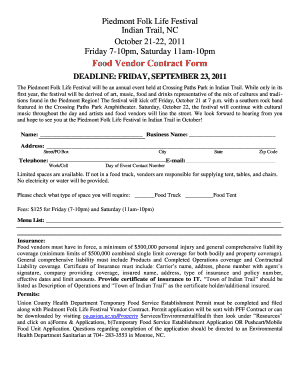 Amazing Californias Food Vendor Contract Form Intended For Food Vendor Contract