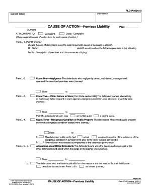 pld pi 001 Fillable Online courts ca PLD-PI-001(4) CASE NUMBER: SHORT TITLE ...
