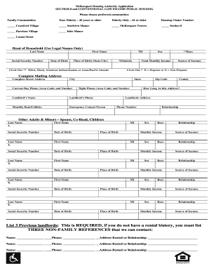 Section 8 housing application form online