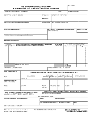 Ups Fillable Bill Of Lading Form