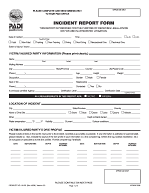 Incident Reporting Form Templates - Fillable & Printable Samples ...