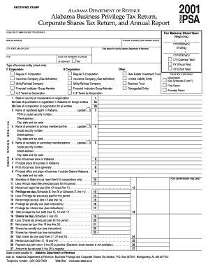 Alabama Business Privilege Tax Return - Fill Online, Printable ...