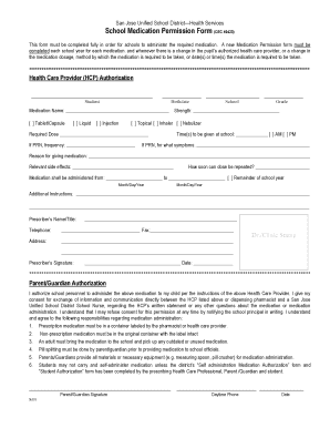 School Medication Form - Fill Online, Printable, Fillable, Blank ...