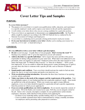 asu cover letter form