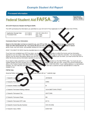 2012-2013 Free Application For Federal Student Aid Forms and ...
