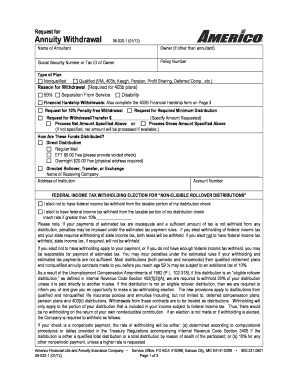 Americo Annuity Surrender Form - Fill Online, Printable ...