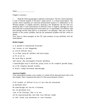 Editable phonetic transcription exercises pdf - Fill Out