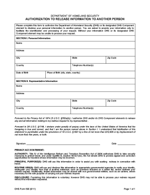 dhs form 590