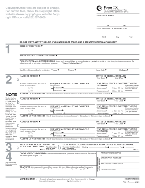 copyright form tx Fillable Copyright Form Tx - Fill Online, Printable, Fillable, Blank ...