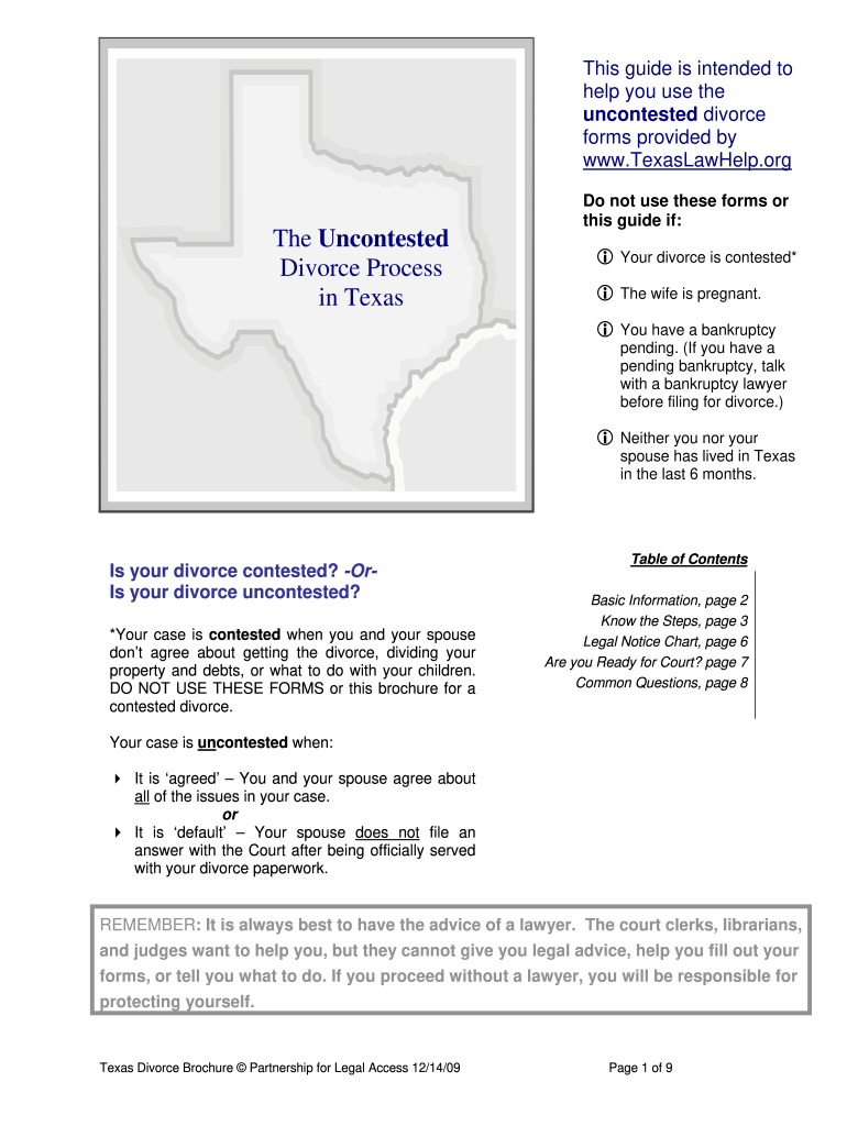 It is a graphic of Free Printable Divorce Forms Texas inside blank