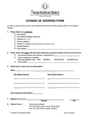 Texas Custody Change Of Address Form Fillable - Fill Online ...