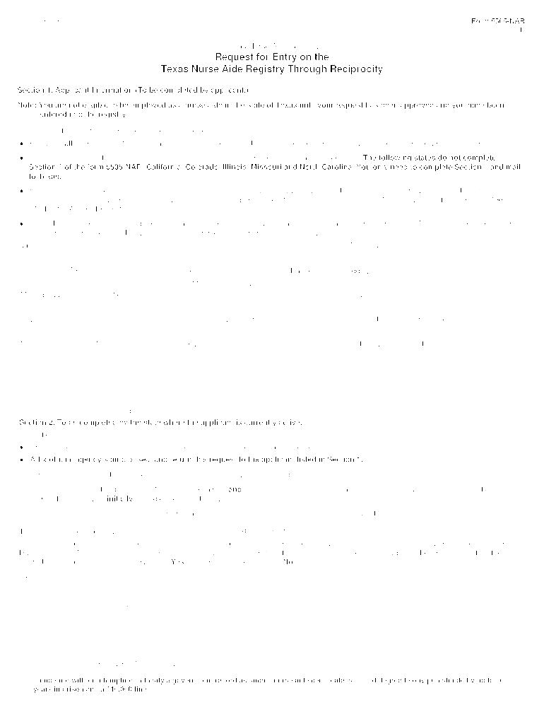 Texas Cna Reciprocity Fill Online Printable Fillable Blank Pdffiller