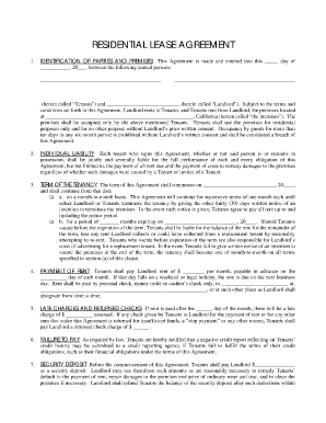 Captivating Blank Residential Lease Agreement To Lease Agreement Printable
