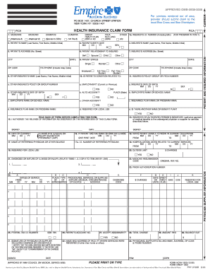 Empire Claim Form 1500 - Fill Online, Printable, Fillable, Blank ...