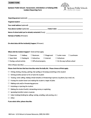 bullying and harassment policy template - harassment report form fill online printable fillable
