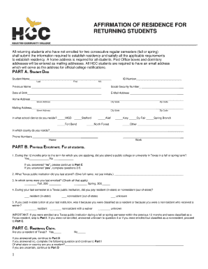 Bill of sale form texas residency affidavit templates fillable affirmation of residency form altavistaventures Image collections