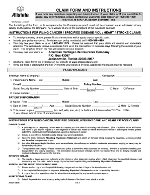 Allstate Claim Form And Instructions - Fill Online, Printable ...