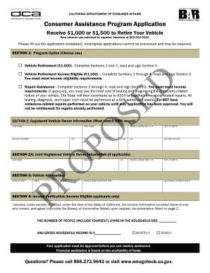 bar consumer assistance program application fill online printable fillable blank pdffiller. Black Bedroom Furniture Sets. Home Design Ideas