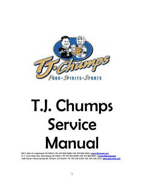 Tj Chumps Nutrition - Fill Online