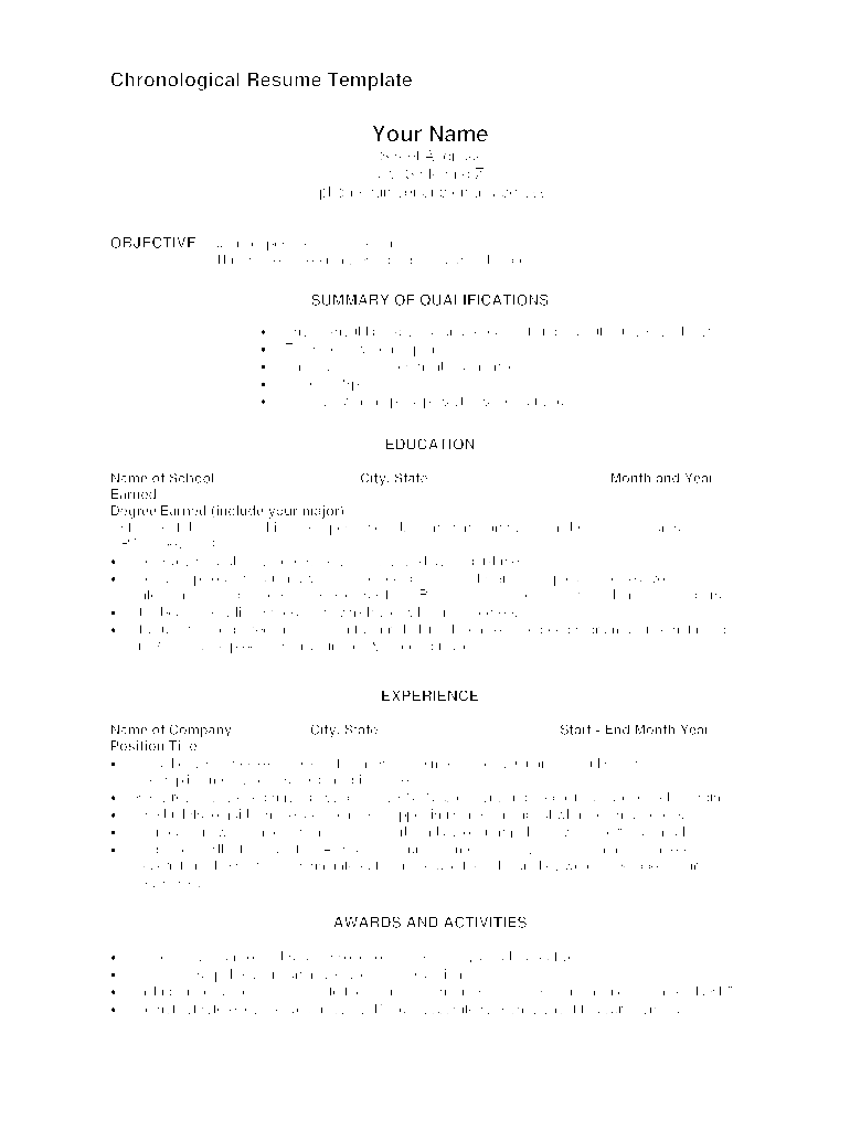 Blank Resume Pdf Fill Online Printable Fillable Blank Pdffiller