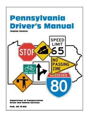 print pa drivers manual fill online printable fillable blank rh pdffiller com pa driving manual vietnamese pa driving manual nepali