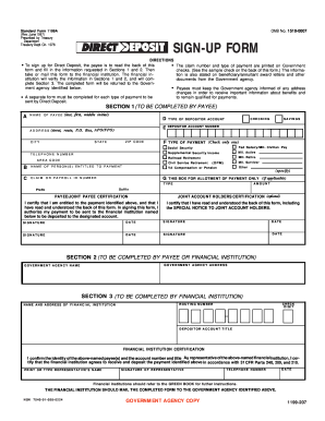 standard form 1199a instructions Templates - Fillable & Printable ...