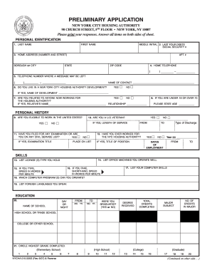 Nycha Employment - Fill Online, Printable, Fillable, Blank | PDFfiller