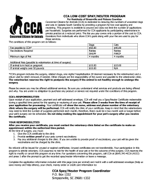 Pet adoption certificate pdf forms and templates fillable pickens county spay and neuter program form yadclub Choice Image