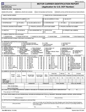 Mcs 150 online form fill online printable fillable for Federal motor carrier number