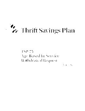Tsp 75 - Fill Online, Printable, Fillable, Blank | PDFfiller