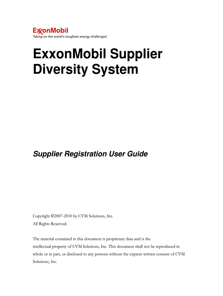How To Register As A Contractor With Exxon Mobil Nigeria