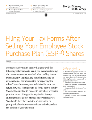 Morgan Stanley Employee Stock Plan Tax Return - Fill Online