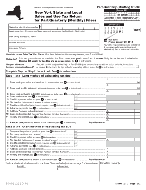 st 809 form for 2011