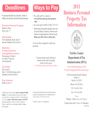 Fairfax County Personal Property Tax >> Fairfax County Form 2ta Fill Online Printable Fillable Blank