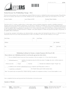 Nycers Form W 4p - Fill Online, Printable, Fillable, Blank   PDFfiller