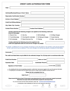 credit card authorization form fill online printable fillable blank pdffiller