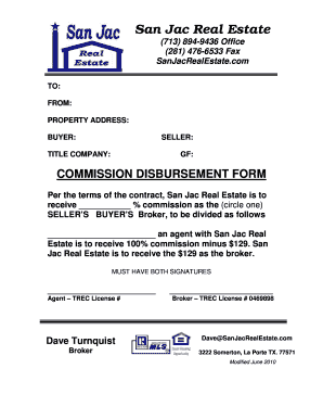 Real Estate Disbursement Form Fill Online Printable Fillable