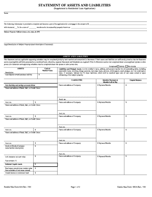 asset and liability statement template - form assets liabilities fill online printable fillable