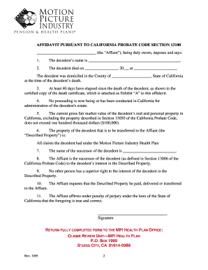 Small Estate Affidavit California - Fill Online, Printable ...