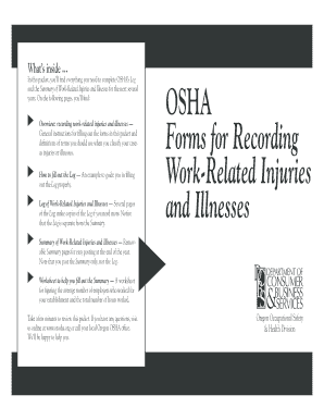 Forms for Recording Work-Related Injuries and ... - Oregon OSHA - osha oregon
