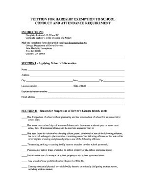 Petition For Hardship Exemption - Fill Online, Printable, Fillable ...