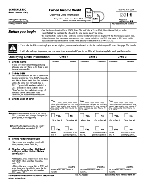 2011 form 1040 schedule eic fill online printable for 1040 form 2011 tax table