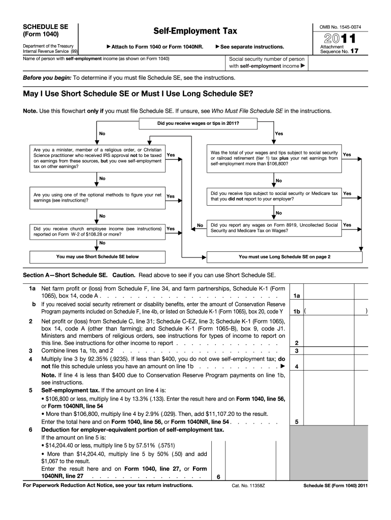 form 1040 schedule se  13 Form IRS 13 - Schedule SE Fill Online, Printable ...