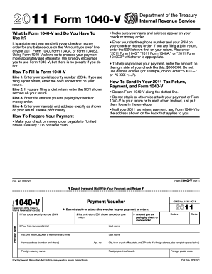 IRS 1040-V form | PDFfiller