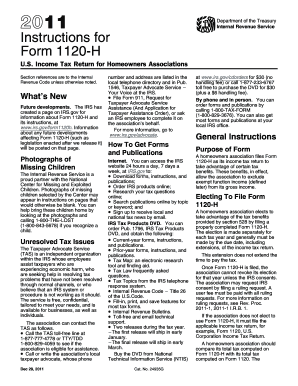 Form 1120 H Instructions - Fill Online, Printable, Fillable, Blank ...