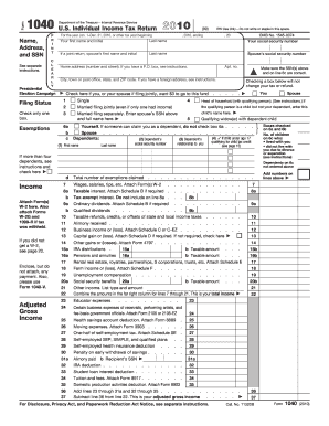 2010 form irs 1040 fill online printable fillable blank for 1040 tax table 2010