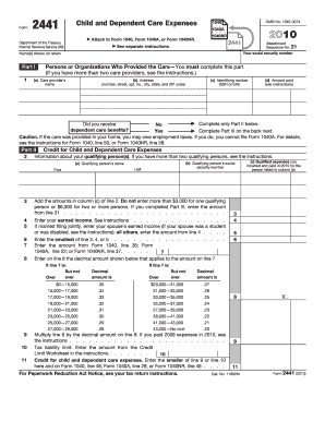 IRS 2441 form   PDFfiller