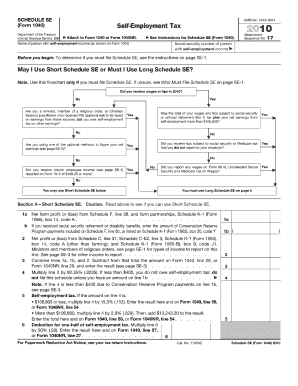 IRS Schedule SE (1040 form) | PDFfiller